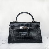 New leather retro lifting oblique cross lock female bag